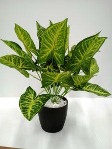 Planta Artificial 12 Hojas variegada