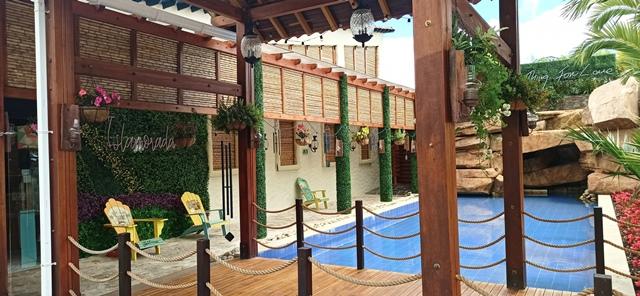 Diferentes aplicaciones de follaje artificial Restaurante Isla Morada - Sopó, Cundinamarca