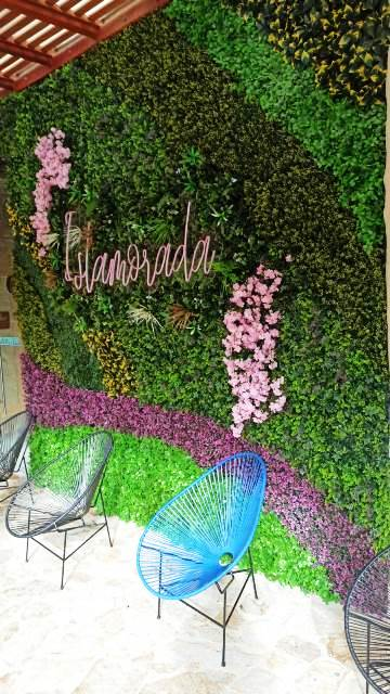 Follaje artificial para muros exteriores o interiores